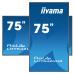 75'' iiyama LH7542UHS-B3: IPS, 4K UHD, 500cd/m2, 18/7/ LAN, Android 8.0, černý