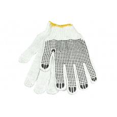 Bezešvé pracovní rukavice s gumovými terčíky vel.10