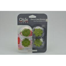 Set 4ks cukrářských razítek na marcipán (4cm) QLUX - Zelený