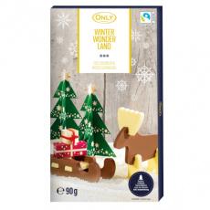 Only Čokoládová zimní říše čokoládové 3D Puzzle 90g