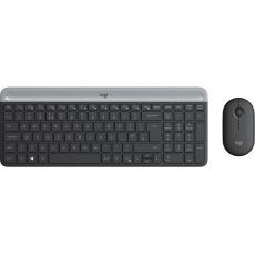 set Logitech slim Wireless MK470 - graphite INT´L