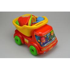 Dětská sada na písek MARIOINEX - Auto s korbou (32cm, 8ks)