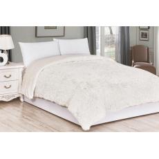 Luxusní deka s dlouhým vlasem 150x200 - Krémová