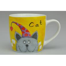 Porcelánový hrníček BANQUET (290ml) - Kočka