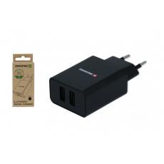 Síťový adaptér Smart IC 2x USB 2,1A power, černý (ECO BALENÍ)