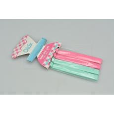 Uzavíratelné klipsy na sáčky (11cm) - Set 4ks růžové a tyrkysové