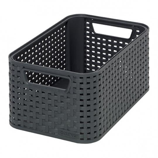 Curver Style pletený úložný box, 28x19cm, dark Grey