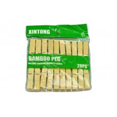 Bambusové kolíčky na prádlo (20ks)