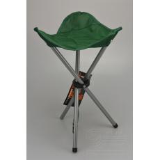 Kempingová stolička trojnožka REDCLIFFS - Zelená (45cm)