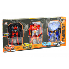 Transformační roboti L010-A33 - 3ks, černý, červený, modrý