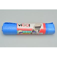 Pytle na odpad s provázkem na zavázání VIGO 10ks 60l - Modré