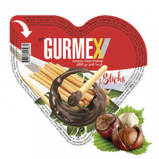 Gurmex Srdce, křupané tyčinky s lískooříškovým krémem, 40g