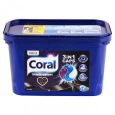 Coral prací kapsle na černé prádlo Black Velvet 3v1 18PD