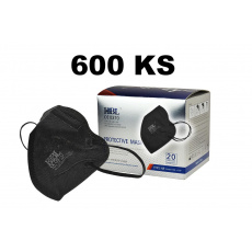 FFP2 respirátor černý s certifikátem CE 0370 EN 149:2001