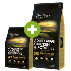 Profine Adult Large Breed Chicken & Potatoes 15kg + 3kg ZDARMA