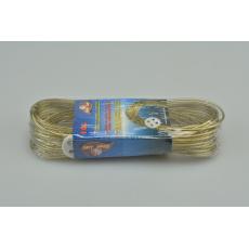 Šňůra na prádlo s ocelovým lankem a upevňovacím knoflíkem (10m)