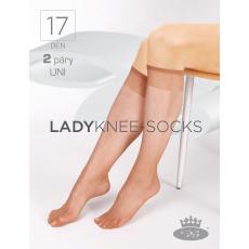podkolenky LADY knee-socks 17 DEN / 2 páry