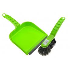 Smetáček a lopatka s gumou - Zelený