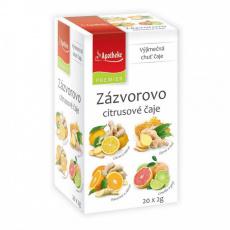Apotheke PREMIER Zázvorovo-citrusové čaje 4v1 20x2g