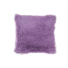 Luxusní povlak na polštářek s dlouhým vlasem 40x40 - Fialový