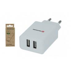 Síťový adaptér Smart IC 2x USB 2,1A power, bílý (ECO BALENÍ)