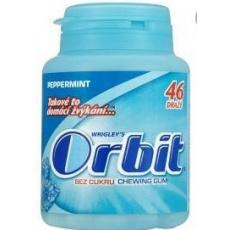 Wrigley's Orbit Žvýkačky peppermint dražé 1x64g dóza