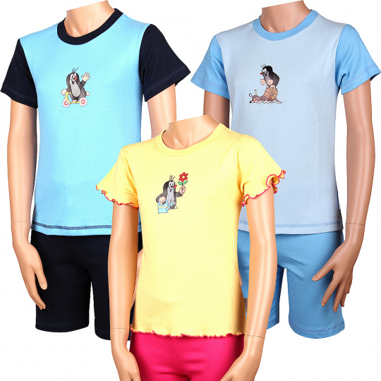 KR 012 dětské pyžamo krátký rukáv
