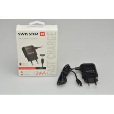 Nabíječka mobilních telefonů do sítě SWISSTEN 2.4A - USB-C