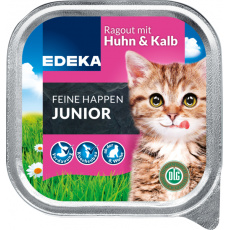 EDEKA JUNIOR Ragú s kuřecím a telecím pro kočky 100g