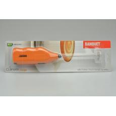 Šlehač na mléko Culinaria BANQUET (19.5cm) na 2x AA baterie - Oranžový