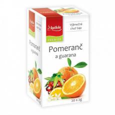 Apotheke PREMIER Pomeranč a guarana čaj 20x2g