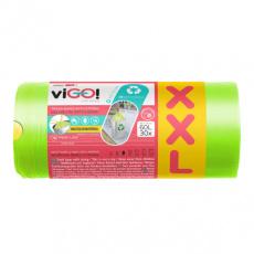 viGO! Pytle na odpad se zatahovací páskou, vůně Fresh Lime 60l 30 ks
