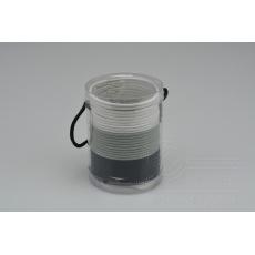 Set 30ks gumiček do vlasů (průměr 5cm) - Bílé, šedé, černé