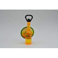 Otvírák na pivo s magnetem (14cm) - Žlutý