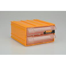 Plastový organizér do dílny MANO K-31 (12x11x6cm) - Žlutý