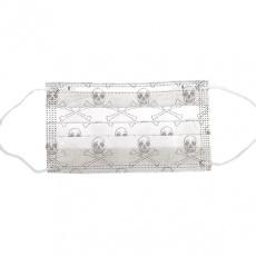 Dekorativní rouška z netkané textilie 2 vrstvá vzor lebky 5ks