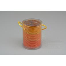 Set 30ks gumiček do vlasů (průměr 5cm) - Odstíny oranžové