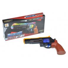 Dětský revolver se světelnými a zvukovými efekty GAZELO