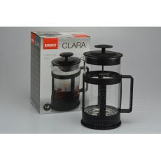 Konvice french press na kávu a čaj BANQUET Clara 1l