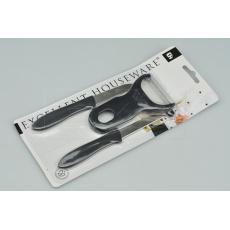 Praktický set škrabka + 2 škrabkové nože EH (11.5-16.cm) - Černý