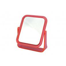 Oboustranné kosmetické zrcátko s dvojnásobným zvětšením ELEGANZA - Růžové (13,5x11,5cm)