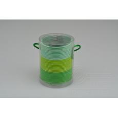 Set 30ks gumiček do vlasů (průměr 5cm) - Odstíny zelené