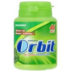 Wrigley's Orbit Žvýkačky spearmint dražé 1x64g dóza