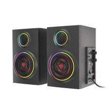 Reproduktory 2.0 24W GENESIS HELIUM 300BT ARGB, Bluetooth 5.0