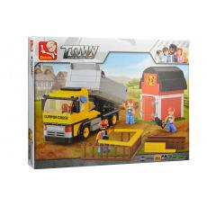 Stavebnice SLUBAN TOWN CONSTRUCTION (M38 - B0552) 384dílků - Dumper truck (17.7cm)