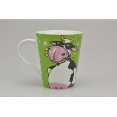 Porcelánový hrníček BANQUET (310ml) -Kráva pohodářka
