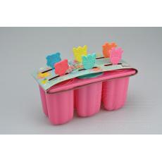 Výrobník nanuků 19cm - Na 6 nanuků 8x6cm - Růžový