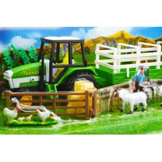 Farm set - Traktor, s farmářem a příslušenstvím
