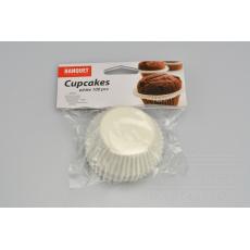 Cukrářské košíčky Cupcakes BANQUET 100ks - Bílé (6x2,2x4,5cm)