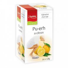 Apotheke PREMIER Pu-erh a citron čaj 20x1,8g